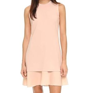 Theory Malkan Layered Sheath Dress in Blush Pink